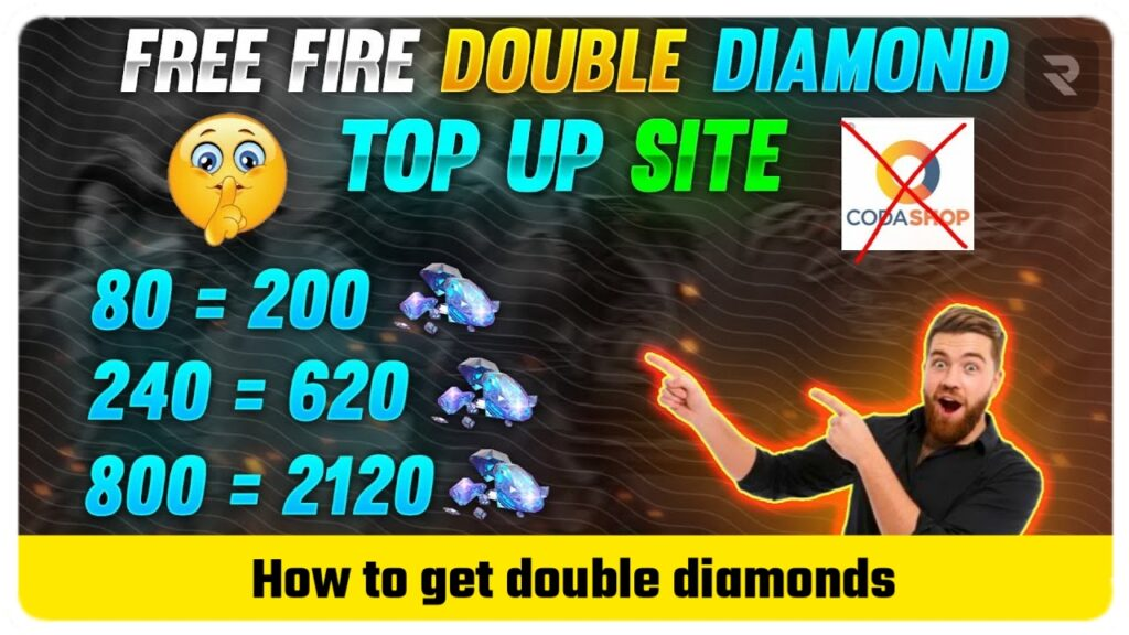 How to get double diamonds in free fire